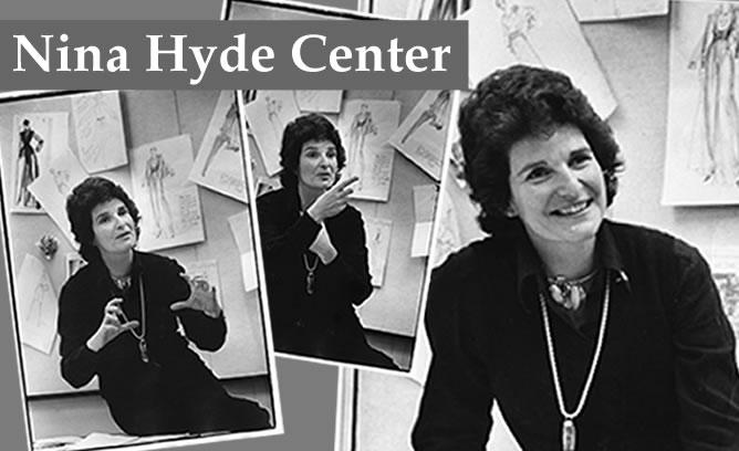 "A collage of images of Nina Hyde with the word ""Nina Hyde Center"""