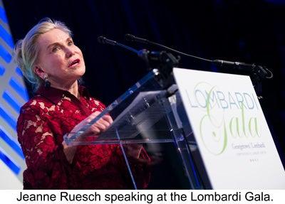 Jeanne Ruesch speaking at the Lombardi Gala