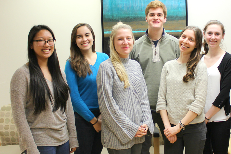 group photo of student volunteers, Georgetown University Oncology Patient Support