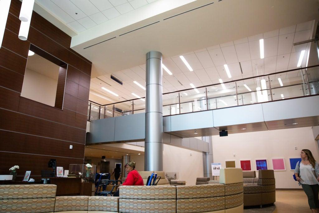 Interior lobby of Georgetown Lombardi