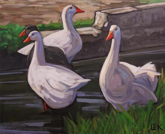 A painting of geese by Ed King