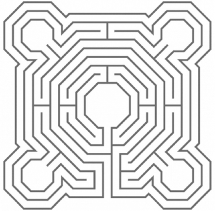 line drawing of a labyrinth