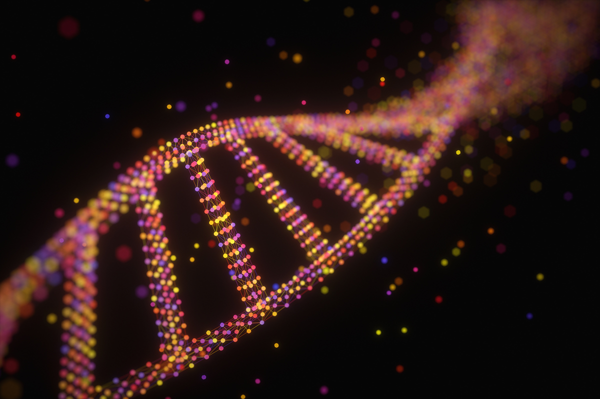Photoillustration of DNA strand