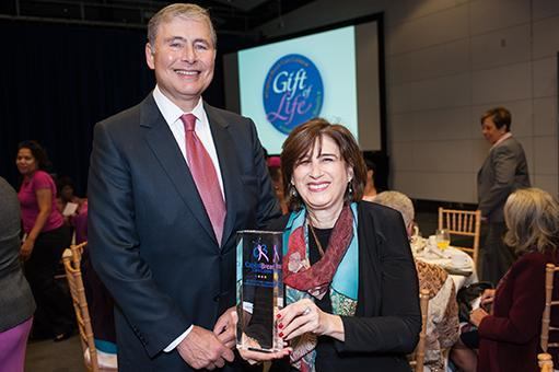 Dr. Louis Weiner and Dr. Jeanne Mandelblatt at the Gift of Life breakfast
